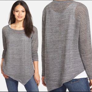Eileen Fisher Bateau Neck Cotton Mesh Sweater XS